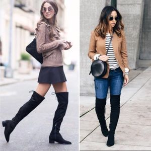 ⬇️ Marc Fisher Yuna over the knee black boots